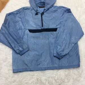 Foot Locker Blue Windbreaker with Hoodie XL